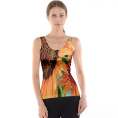 Sunflower Art  Artistic Effect Background Tank Top