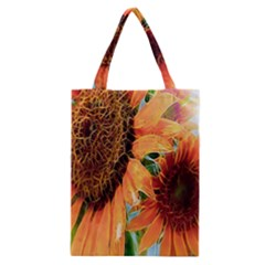 Sunflower Art  Artistic Effect Background Classic Tote Bag
