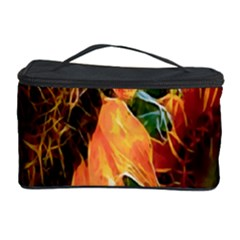 Sunflower Art  Artistic Effect Background Cosmetic Storage Case by BangZart