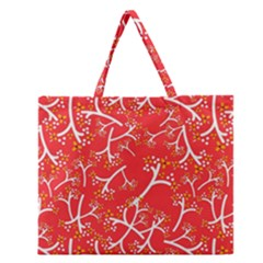Small Flowers Pattern Floral Seamless Pattern Vector Zipper Large Tote Bag by BangZart