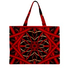 Fractal Wallpaper With Red Tangled Wires Mini Tote Bag