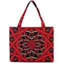 Fractal Wallpaper With Red Tangled Wires Mini Tote Bag View1