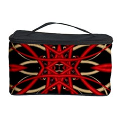 Fractal Wallpaper With Red Tangled Wires Cosmetic Storage Case by BangZart