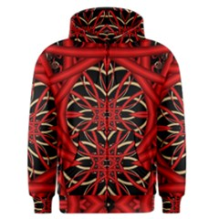 Fractal Wallpaper With Red Tangled Wires Men s Zipper Hoodie