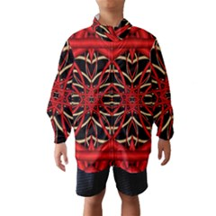 Fractal Wallpaper With Red Tangled Wires Wind Breaker (kids)