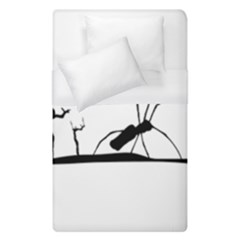 Dark Scene Silhouette Style Graphic Illustration Duvet Cover (single Size) by dflcprints