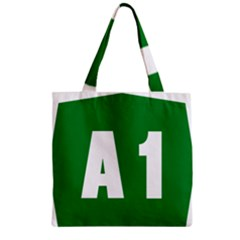 Autostrada A1 Zipper Grocery Tote Bag by abbeyz71