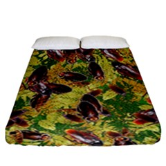 Cockroaches Fitted Sheet (california King Size) by SuperPatterns