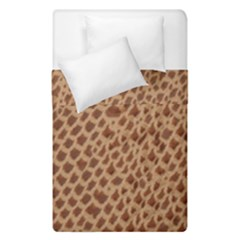 Giraffe Pattern Animal Print Duvet Cover Double Side (single Size) by paulaoliveiradesign