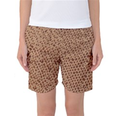 Giraffe Pattern Animal Print  Women s Basketball Shorts by paulaoliveiradesign