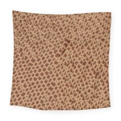 Giraffe Pattern Animal Print  Square Tapestry (large) by paulaoliveiradesign