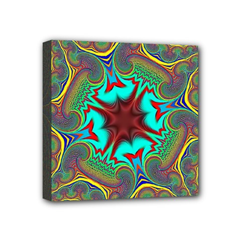 Hot Hot Summer A Mini Canvas 4  X 4  by MoreColorsinLife