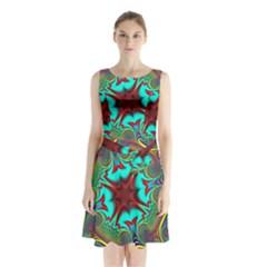 Hot Hot Summer A Sleeveless Waist Tie Chiffon Dress by MoreColorsinLife