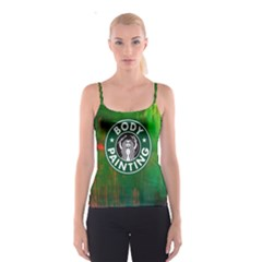 the Caffeinated Bodypainter!    Spaghetti Strap Top by livingbrushlifestyle