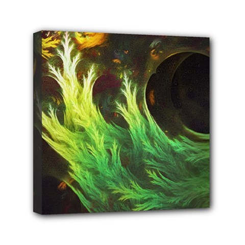 A Seaweed s Deepdream Of Faded Fractal Fall Colors Mini Canvas 6  X 6  by jayaprime