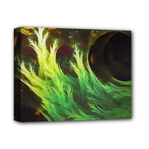 A Seaweed s Deepdream Of Faded Fractal Fall Colors Deluxe Canvas 14  X 11  by jayaprime