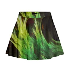 A Seaweed s Deepdream Of Faded Fractal Fall Colors Mini Flare Skirt by beautifulfractals