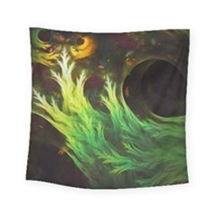 A Seaweed s Deepdream Of Faded Fractal Fall Colors Square Tapestry (small) by jayaprime