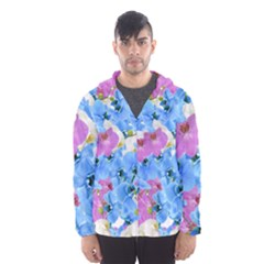 Tulips Flower Pattern Hooded Wind Breaker (men) by paulaoliveiradesign