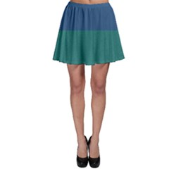 Blue Gradient Glitter Texture Pattern  Skater Skirt by paulaoliveiradesign