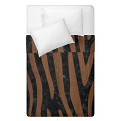 Skin4 Black Marble & Brown Wood (r) Duvet Cover Double Side (single Size) by trendistuff