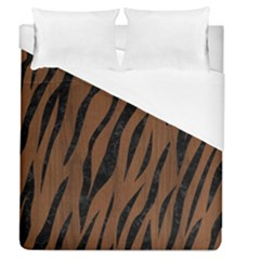 Skin3 Black Marble & Brown Wood (r) Duvet Cover (queen Size) by trendistuff