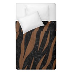 Skin3 Black Marble & Brown Wood Duvet Cover Double Side (single Size) by trendistuff