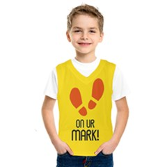 On Ur Mark! Kids  Basketball Tank Top by NoctemClothing
