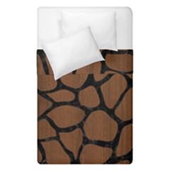 Skn1 Bk Mrbl Br Wood Duvet Cover Double Side (single Size) by trendistuff