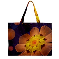 Beautiful Violet & Peach Primrose Fractal Flowers Mini Tote Bag by beautifulfractals