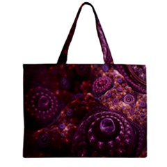 Buried Pirate Treasure Of Fractal Pearls And Coins Zipper Mini Tote Bag by beautifulfractals