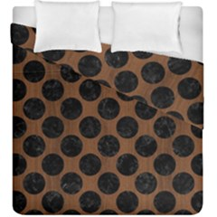 Circles2 Black Marble & Brown Wood (r) Duvet Cover Double Side (king Size) by trendistuff