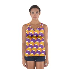Purple And Yellow Abstract Pattern Sport Tank Top