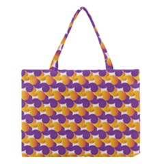 Purple And Yellow Abstract Pattern Medium Tote Bag by paulaoliveiradesign