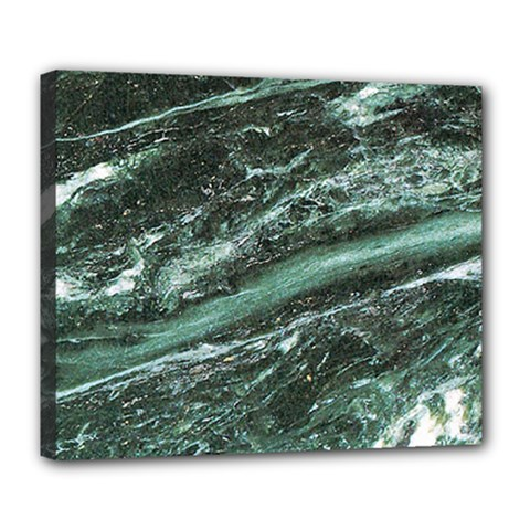 Green Marble Stone Texture Emerald  Deluxe Canvas 24  X 20   by paulaoliveiradesign