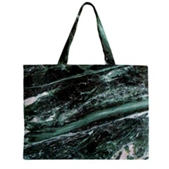 Green Marble Stone Texture Emerald  Zipper Mini Tote Bag by paulaoliveiradesign