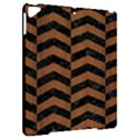 CHEVRON2 BLACK MARBLE & BROWN WOOD Apple iPad Pro 9.7   Hardshell Case View2