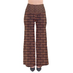 Brick1 Black Marble & Brown Wood (r) So Vintage Palazzo Pants by trendistuff