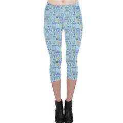 Tech Doodles Capri Leggings by mygraphicfairydesigns