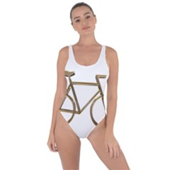 Elegant Gold Look Bicycle Cycling  Bring Sexy Back Swimsuit