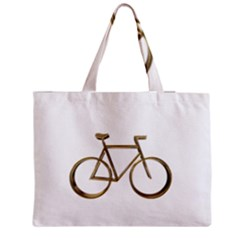 Elegant Gold Look Bicycle Cycling  Medium Tote Bag by yoursparklingshop