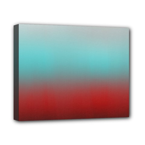Frosted Blue And Red Canvas 10  X 8  by theunrulyartist