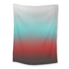 Frosted Blue And Red Medium Tapestry by theunrulyartist