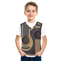 Old And Worn Acoustic Guitars Yin Yang Kids  Sportswear