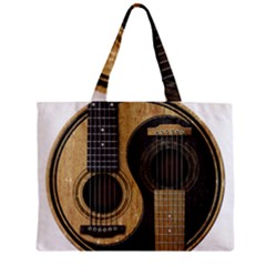Old And Worn Acoustic Guitars Yin Yang Zipper Mini Tote Bag by JeffBartels