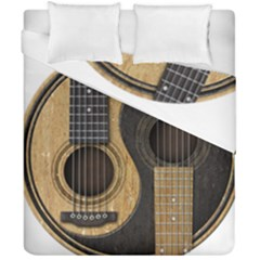 Old And Worn Acoustic Guitars Yin Yang Duvet Cover Double Side (california King Size) by JeffBartels