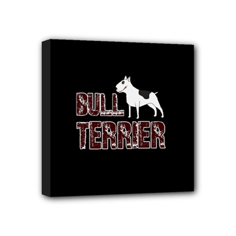 Bull Terrier  Mini Canvas 4  X 4  by Valentinaart