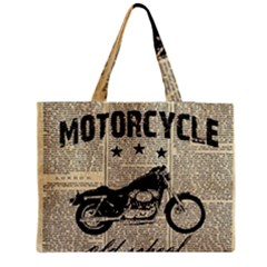 Motorcycle Old School Medium Tote Bag by Valentinaart
