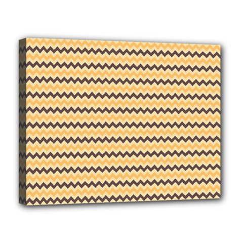 Colored Zig Zag Canvas 14  X 11  by Colorfulart23