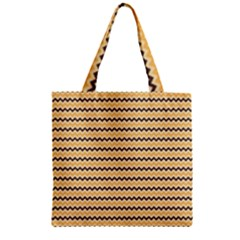 Colored Zig Zag Zipper Grocery Tote Bag by Colorfulart23